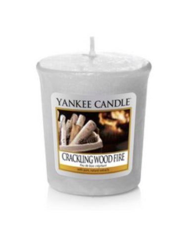 Crackling Wood Fire Samplers Votive Candle