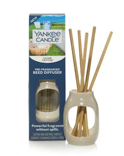 Clean Cotton with Embossed Vase Pre-Fragranced Reed Diffusers