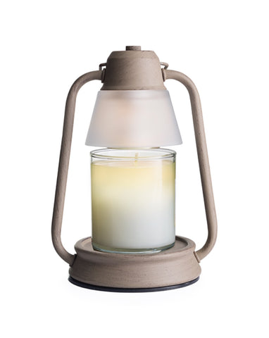 Beacon Lantern Vintage Taupe Candle Warmer