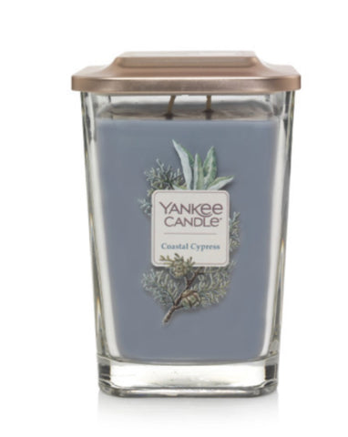 Coastal Cypress Large 2-Wick Square Candle
