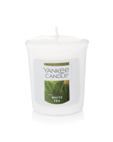 White Tea Samplers Votive Candle