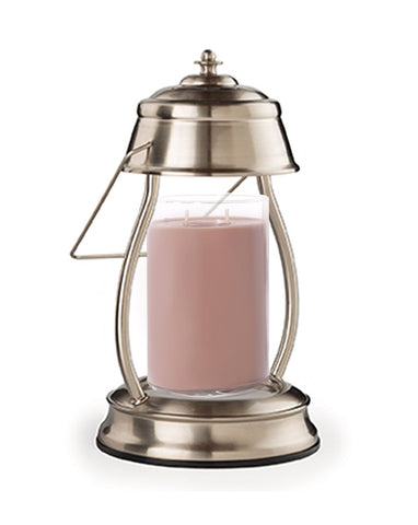 Brushed Nickel Hurricane Candle Warmer with FREE Large 2-Wick Tumbler