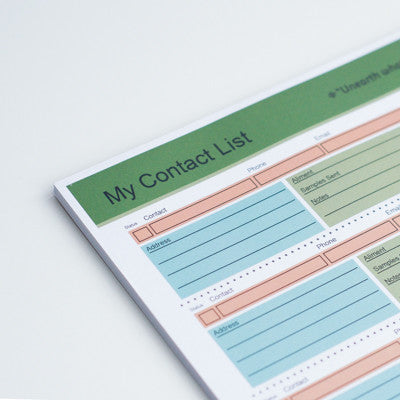 Contact List Tear Pad, 50 Sheets