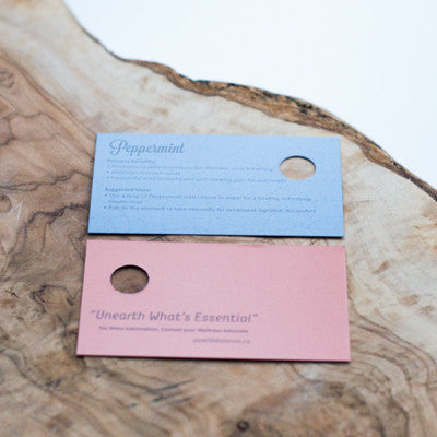 Peppermint Sample Cards, Package of 10