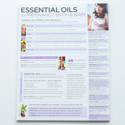 Essential Oils for Pregnancy, Birth & Baby Tear Pad, 50 Sheets