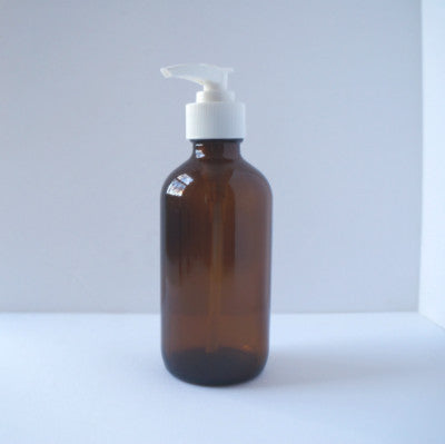 Amber Glass Pump Bottle, 240 ml