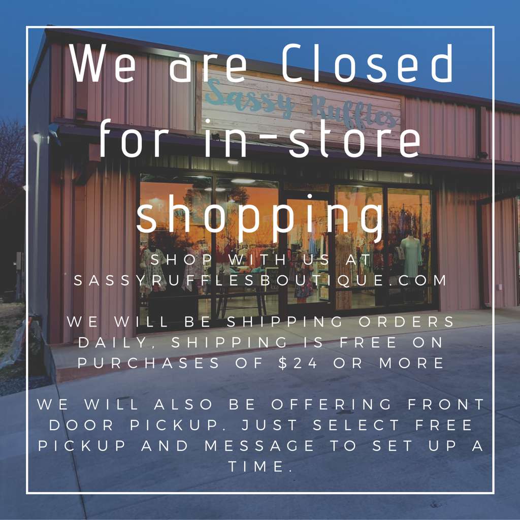 In-store shopping closed due to COVID-19