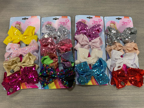"JoJo Bow 4"" Pack of 4"