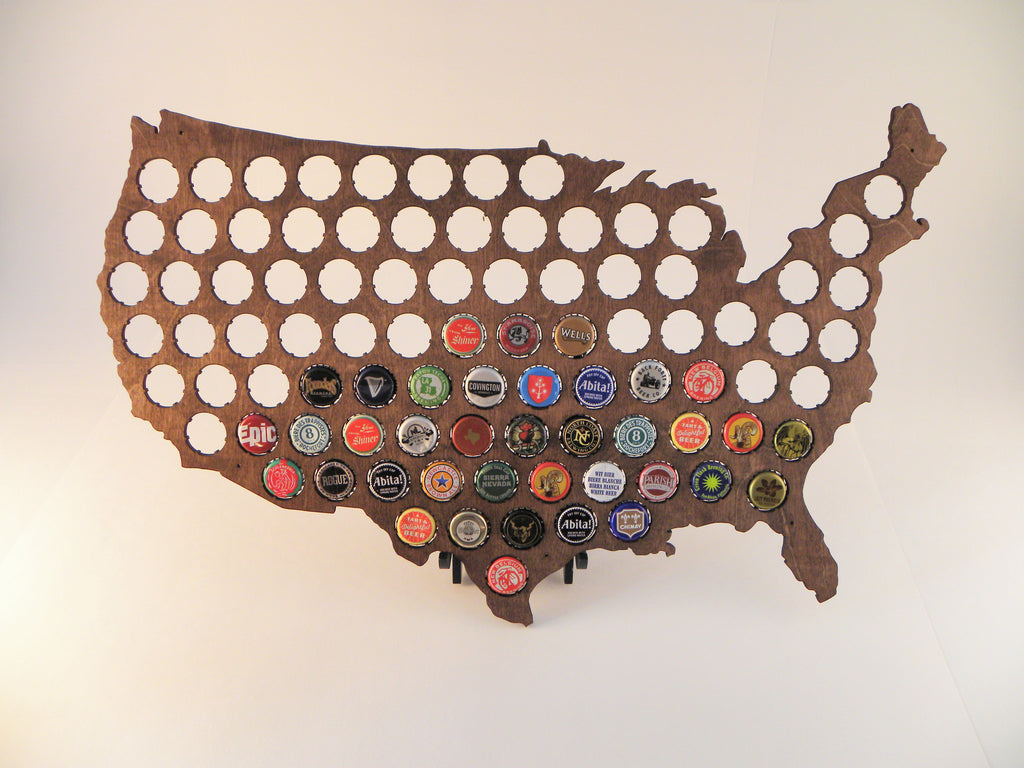 United States Beer Cap Map