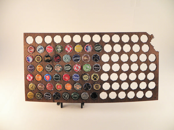 Kansas Beer Cap Map