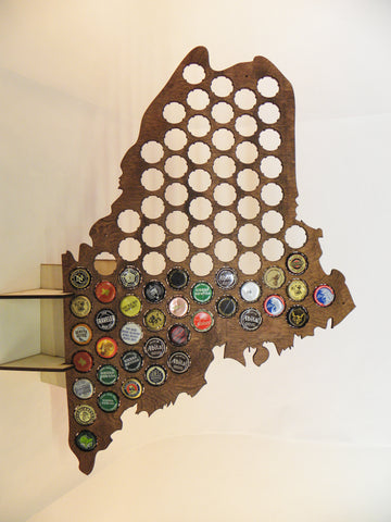 Maine Beer Cap Map