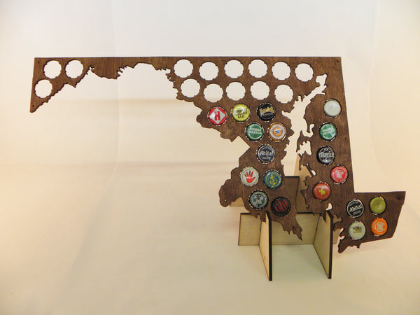 Maryland Beer Cap Map