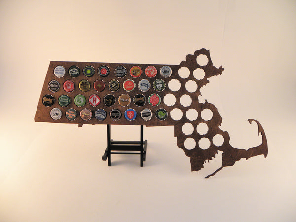 Massachusetts Beer Cap Map