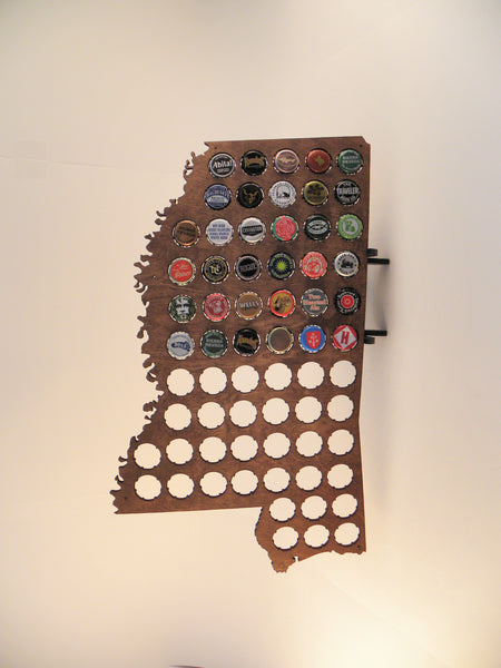 Mississippi Beer Cap Map