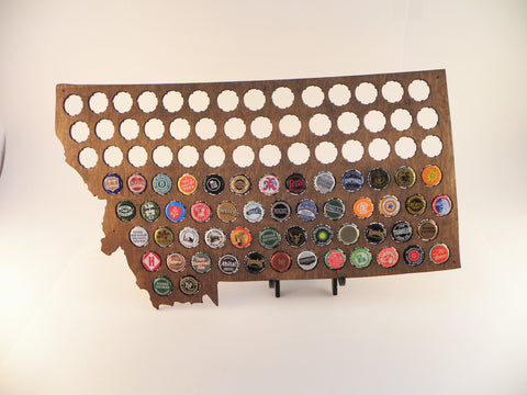 Montana Beer Cap Map