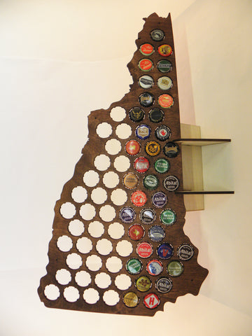 New Hampshire Beer Cap Map