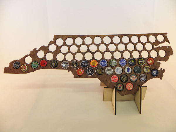 North Carolina Beer Cap Map
