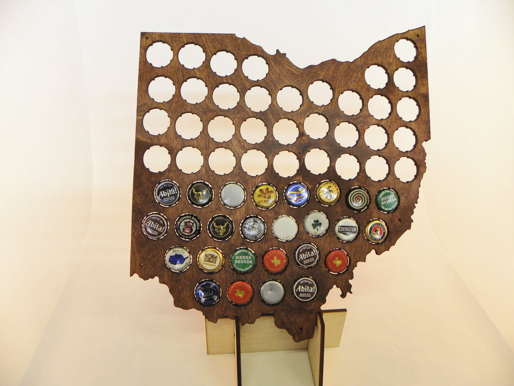 Ohio Beer Cap Map
