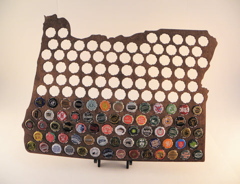 Oregon Beer Cap Map