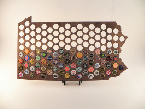 Pennsylvania Beer Cap Map