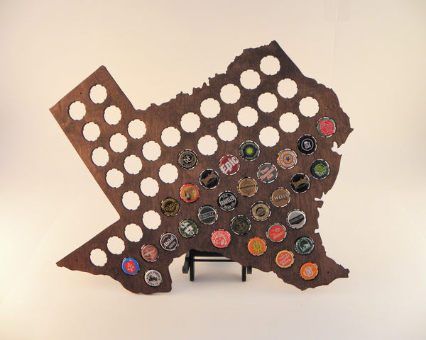 Texas Beer Cap Map
