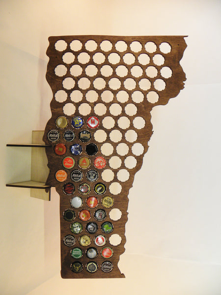 Vermont Beer Cap Map