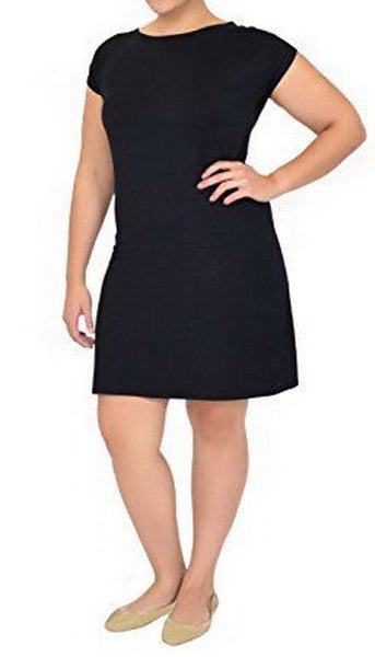 032ab701deb3 The plain little black dress with short sleeves is perfect for all kinds of  outfits. Make it casual with white sneakers and a military jacket or make  it ...