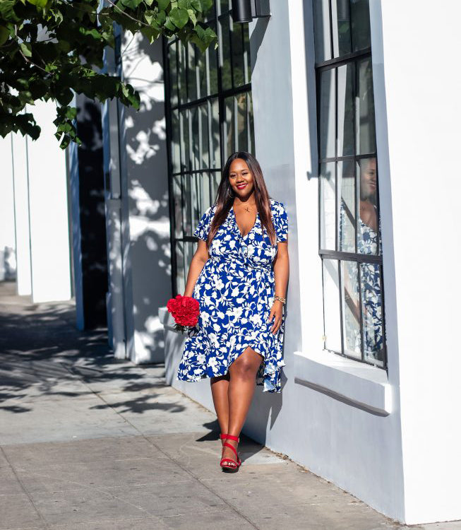 Plus Size Modern Floral Dress for Summer-3