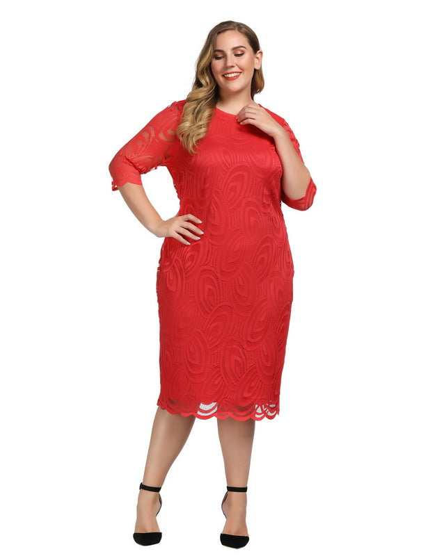 Red Plus Size Dresses for Valentine's Day-4
