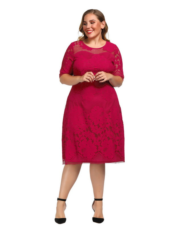 Red Plus Size Dresses for Valentine's Day-2