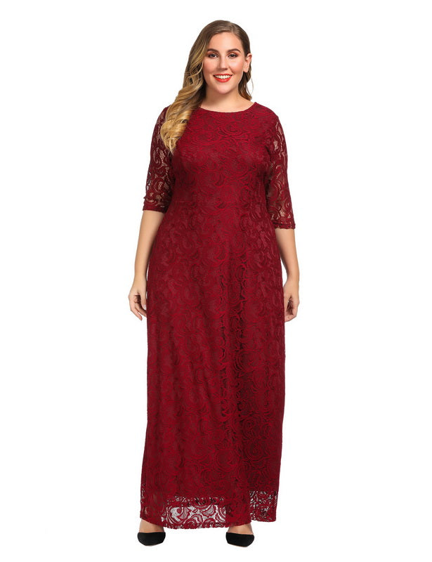 Red Plus Size Dresses for Valentine's Day-1