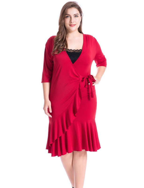 Red Plus Size Dresses for Valentine's Day-3