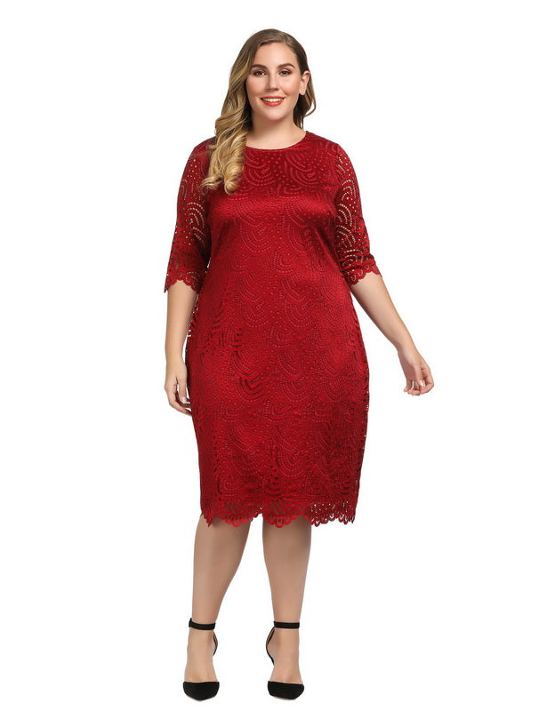 Red Plus Size Dresses for Valentine's Day-6
