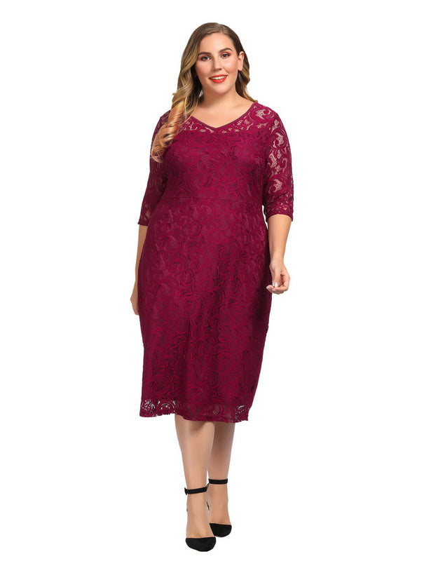 Red Plus Size Dresses for Valentine's Day-5