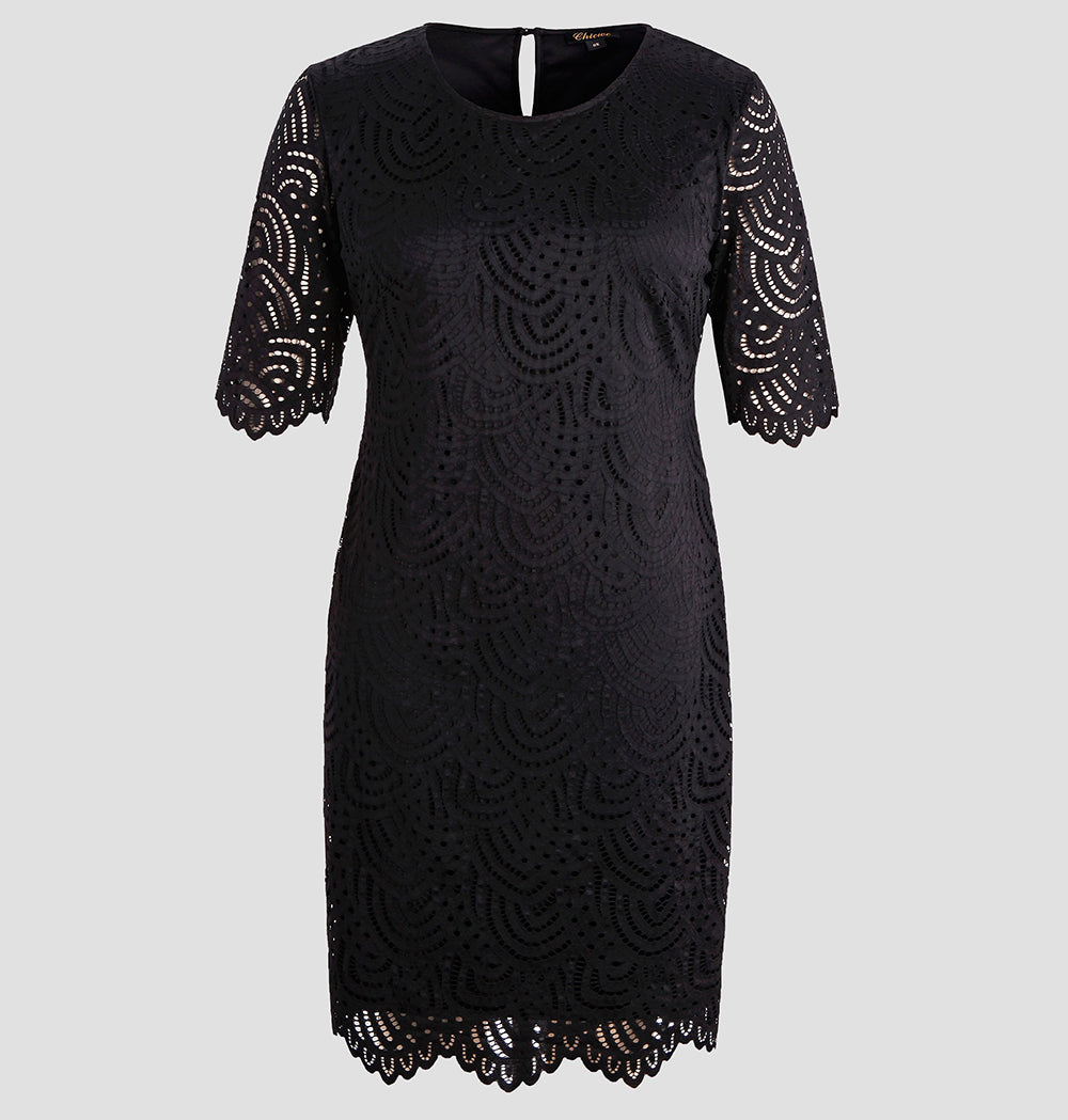 Women's Lace Lined Plus Size Dress