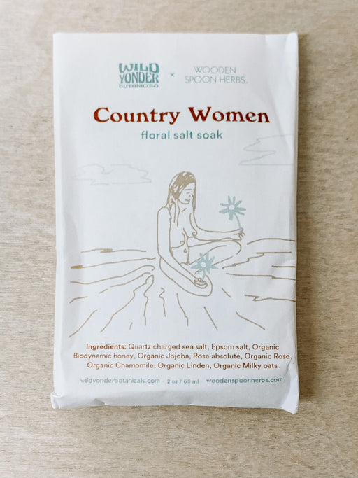 Wooden Spoon Herbs- Country Women Floral Soak