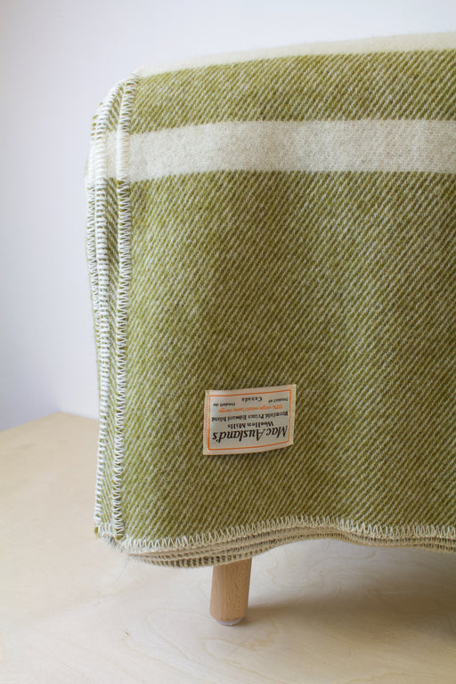 MacAusland - Double Wool Blanket Olive