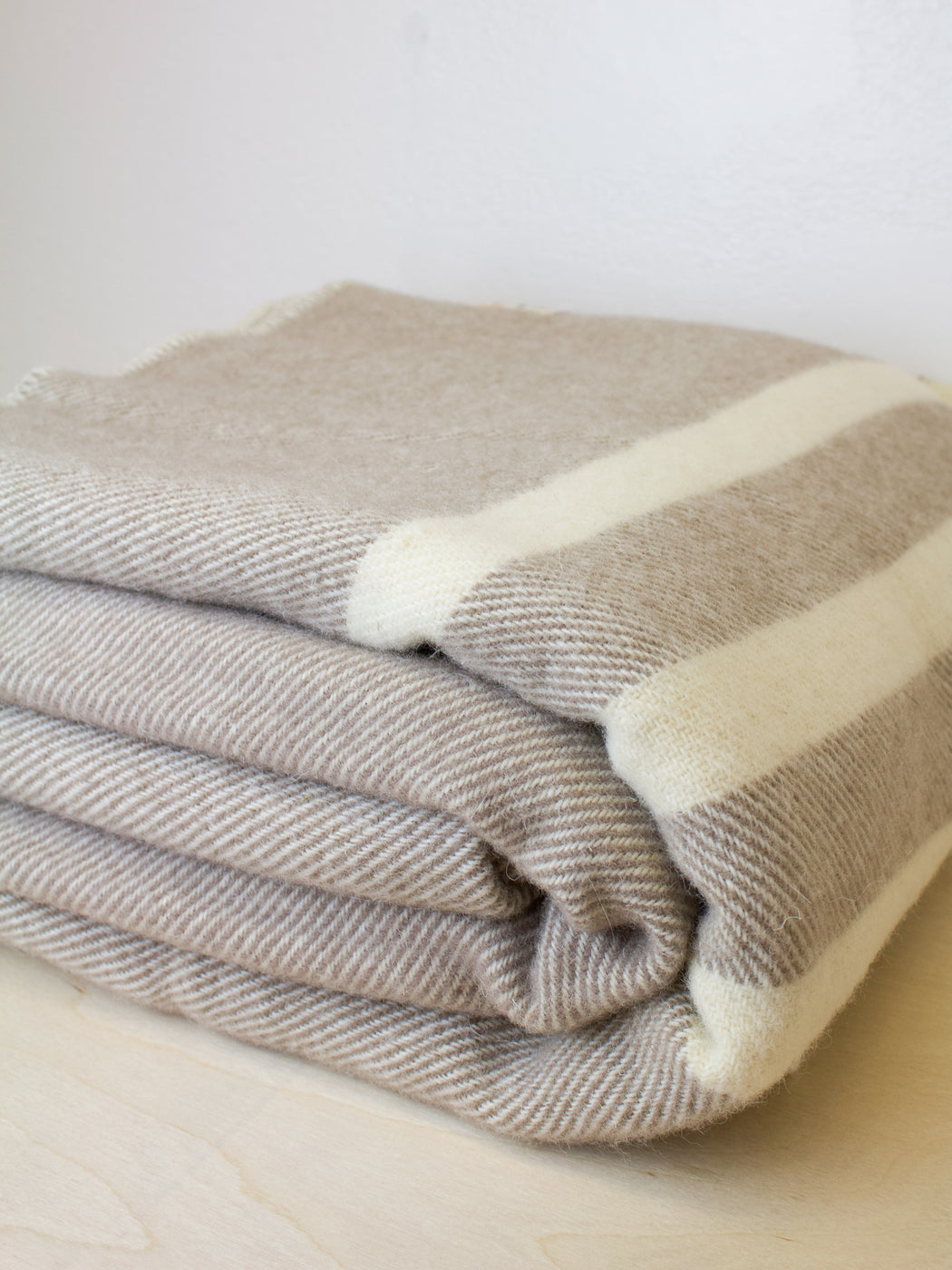 MacAusland - Double Wool Blanket Taupe
