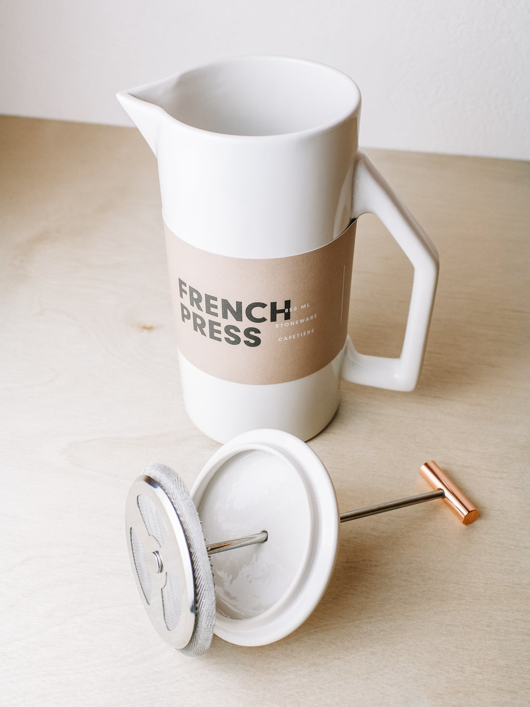 Yield - French Press Ceramic Cream