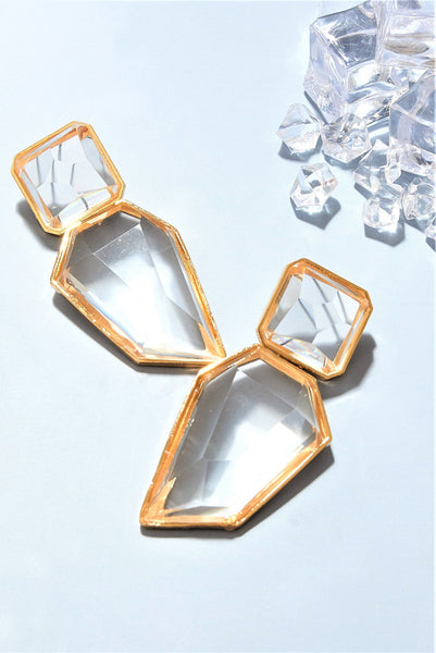 Crystals Rock Edgy Earrings