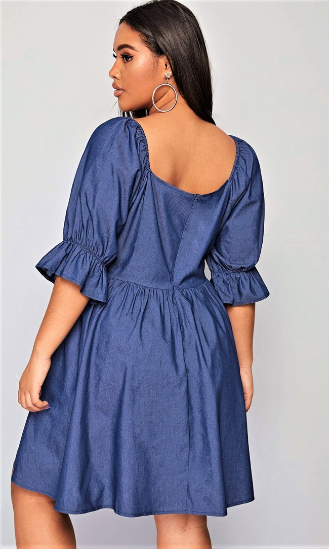 Cutest Comfort Daytime Denim Dress