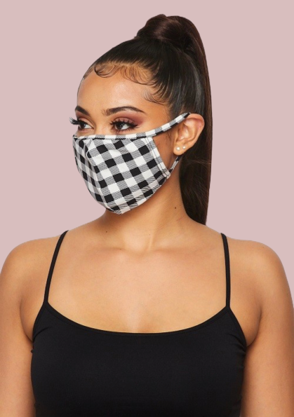 Chic Protective Checkmate Mask & Filters (In Stock, Ready To Ship)