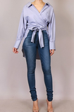 Wrap & Belted High Low Top
