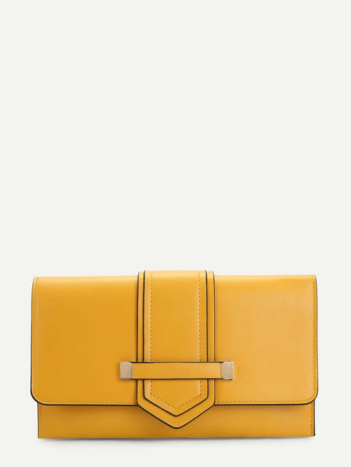 15% OFF  Chic Clutch It Bag (Mustard)