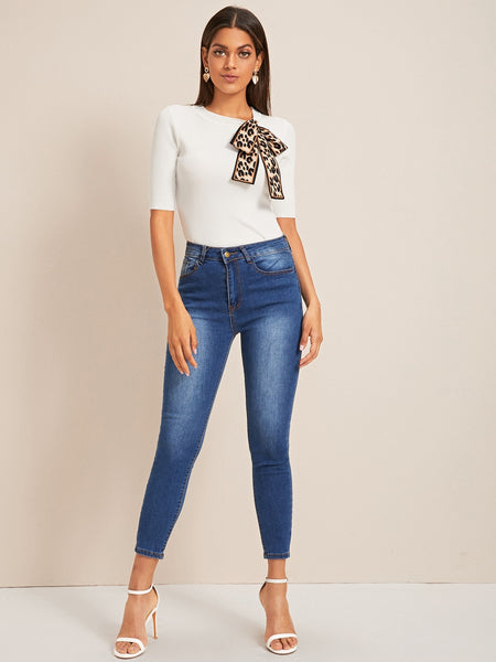 Leopard Ties Top