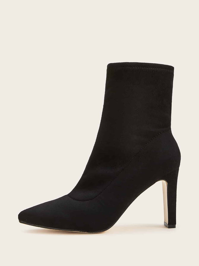 The Sleek Suede Comfort Booties