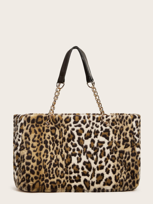 The Leopard Plush Box Bag