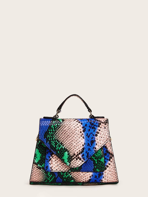 Sleek & Chic Snakeskin Bag (Blue)