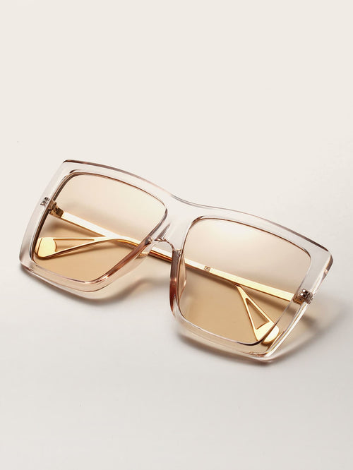 The Square Biz Clear Sunglasses