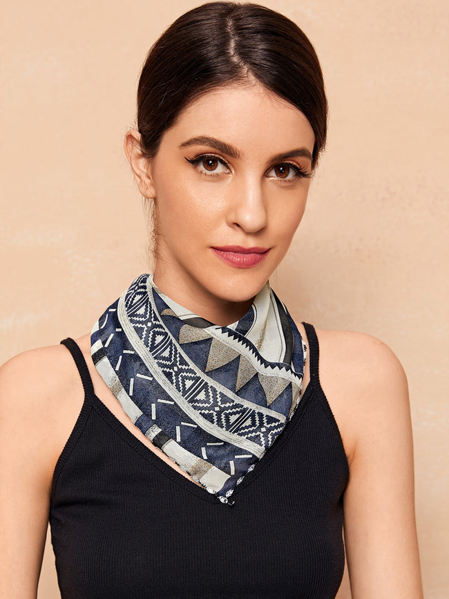 Stylish Geo Designs Scarf Mask (In Stock, Ready To Ship)
